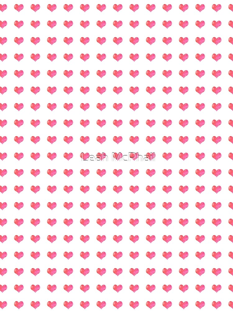 Watercolor Hearts Pattern 1 by LeahMcPhail