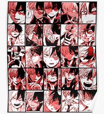 Todoroki shoto collage Poster