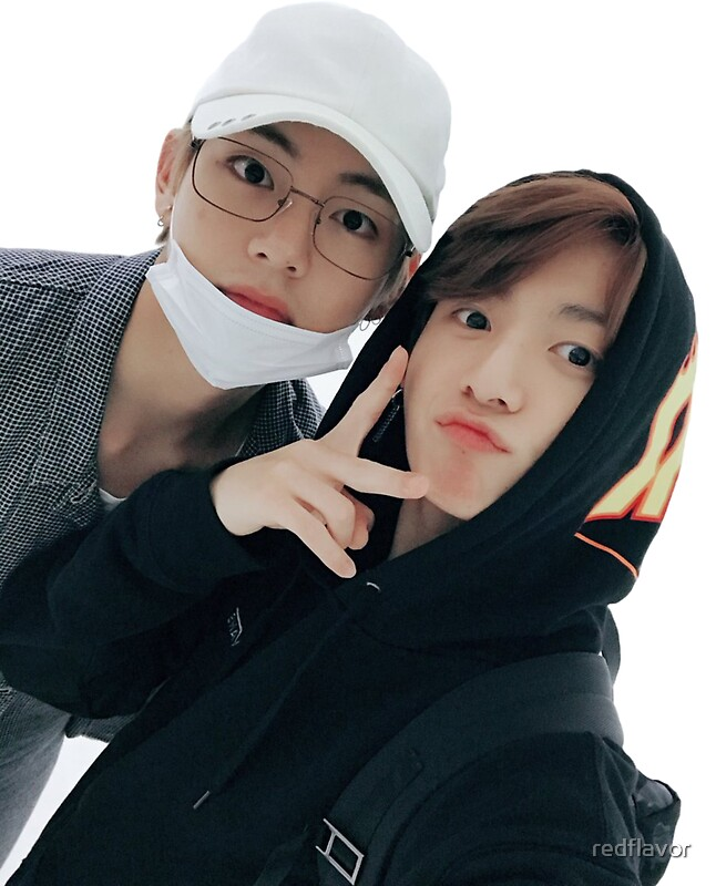 """Taekook (Taehyung and Jungkook) Selfie Sticker (BTS ..."