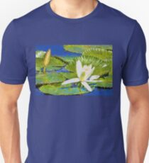 White Water Lily Impressionism T-Shirt