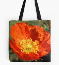 Bright Orange Poppy Tote Bag