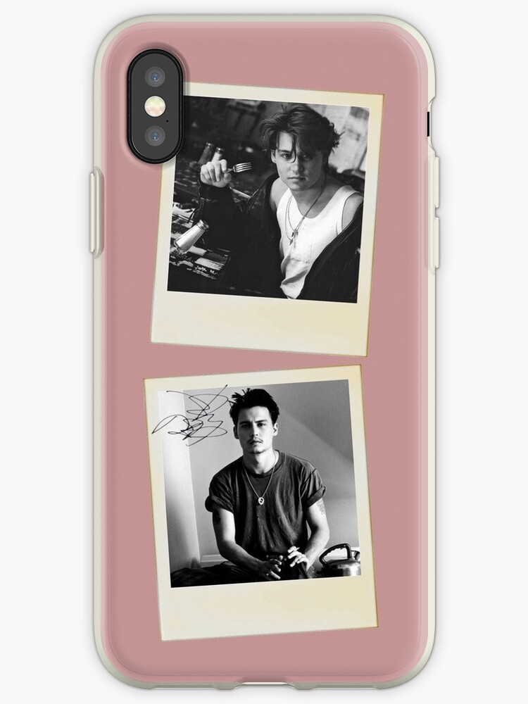 new product 3a527 cc362 'Johnny Depp Polaroid' iPhone Case by wedesign47
