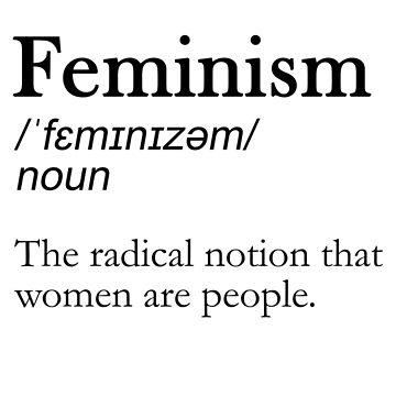 FEMINISM DEFINITION MERCH by youtubemugs