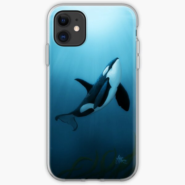 """""""The Dreamer"""" by Amber Marine ~ (Copyright 2015) orca art / killer whale digital painting iPhone Soft Case"""