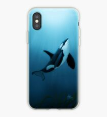 """The Dreamer"" by Amber Marine ~ (Copyright 2015) orca art / killer whale digital painting iPhone Case"