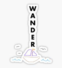 Wander(w/sailboat) Sticker