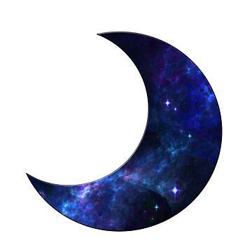 Galaxy Moon by erinaugusta