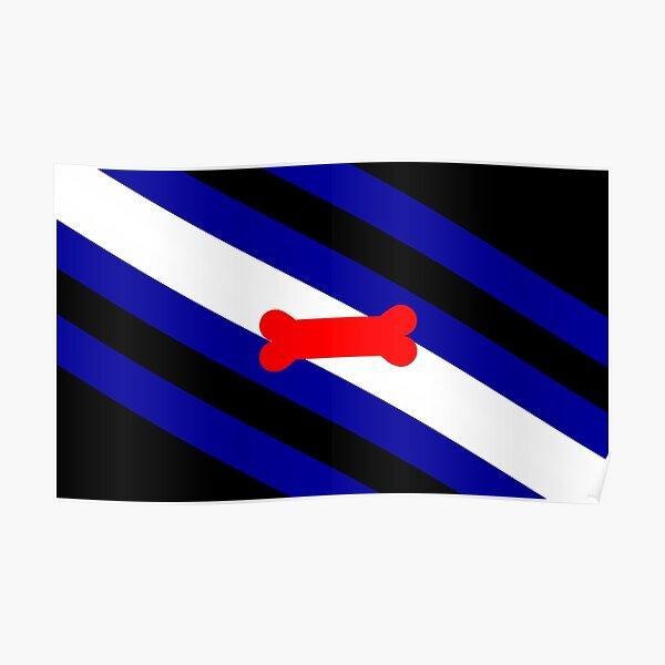 Welpen-Spiel-Stolz-Flagge (v.1) Poster