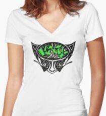 KATY CAT Shirt mit V-Ausschnitt