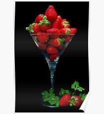 Strawberry Juice Poster