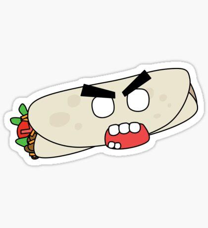 angry zombie burrito Sticker