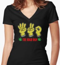 NEW TD7 The High Sign Best Product Women's Fitted V-Neck T-Shirt