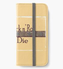 Too Old to Rock n' Roll, Too Young to Die - Grungy Guitar Design iPhone Wallet/Case/Skin