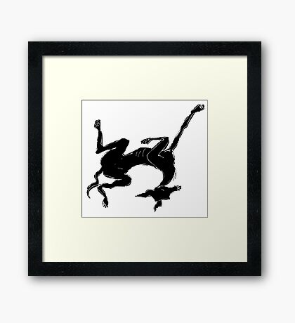 sleeping italian greyhound Framed Print