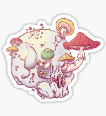 Skull No.1 // The Mushrooms One Sticker