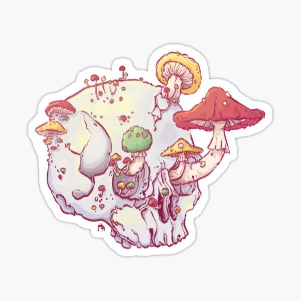 Skull No.1 // The Mushrooms One Sticker
