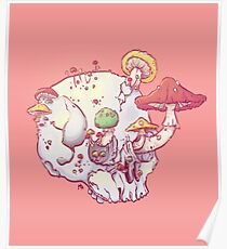 Skull No.1 // The Mushrooms One Poster