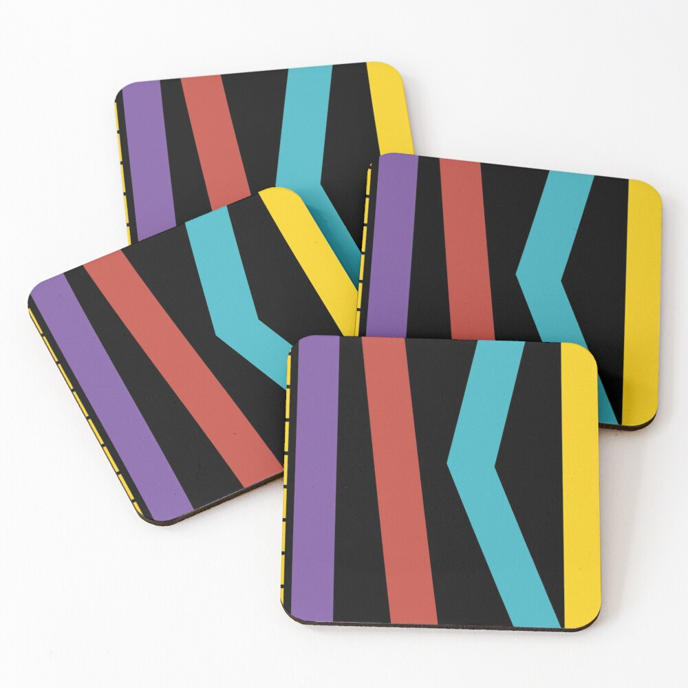Test Strip Coasters (Set of 4)