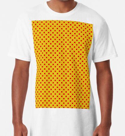 Red & Yellow Polka dots  Long T-Shirt