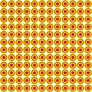 Red & Yellow Polka dots  by Rupert Russell