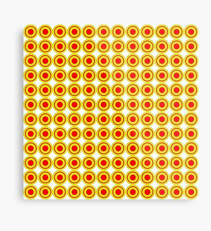 Red & Yellow Polka dots  Metal Print