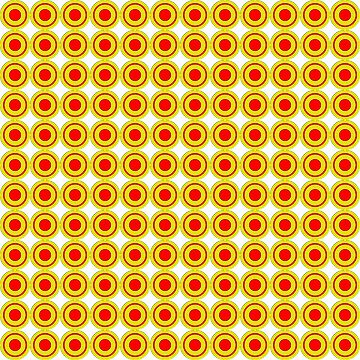 Red & Yellow Polka dots  by rupertrussell