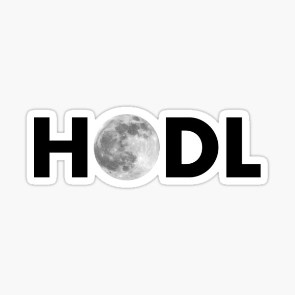 HODL Moon Sticker