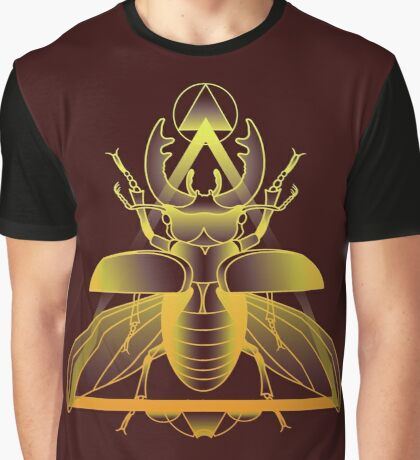 Stag Beetle (Golden) Graphic T-Shirt
