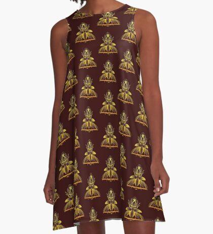 Stag Beetle (Golden) A-Line Dress
