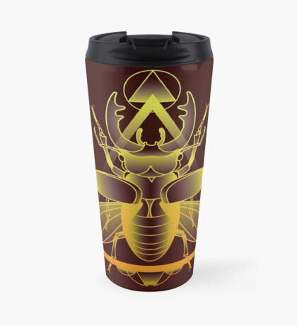 Stag Beetle (Golden) Travel Mug