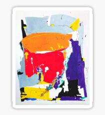 Positive Thinking - abstract oil painting Sticker