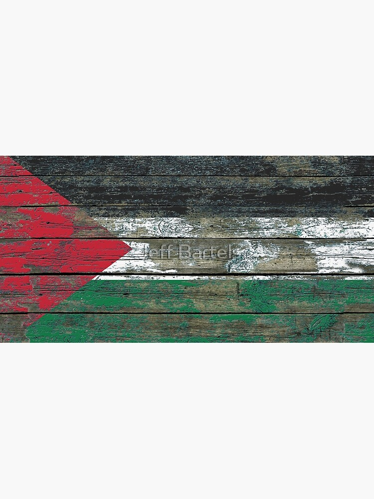 Flag of Palestine on Rough Wood Boards Effect by JeffBartels