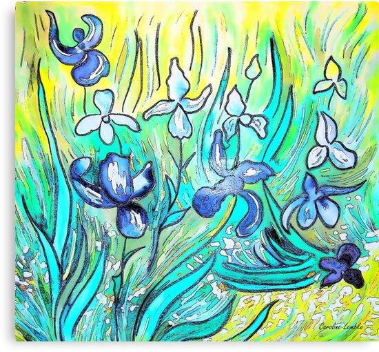 Irises - My Hommage to Vincent Van Gogh by CarolineLembke