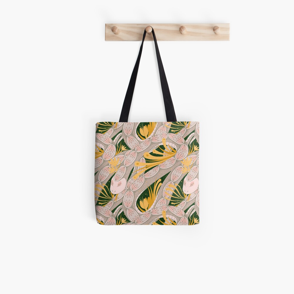 Repeating Snake Tote Bag