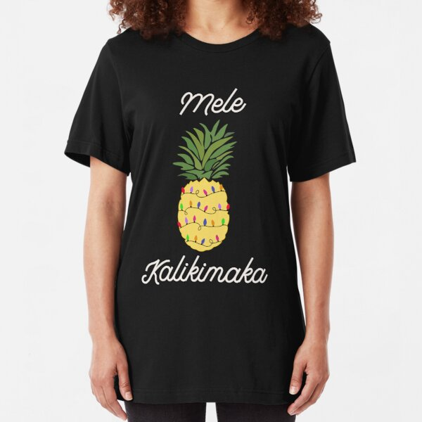Mele Kalikimaka Hawaiian Merry Christmas Vacation Slim Fit T-Shirt