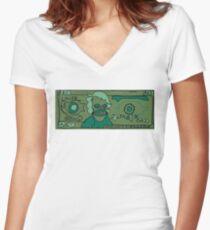 Money Money Money Money Women's Fitted V-Neck T-Shirt