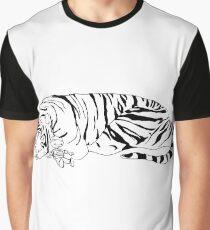 Hobbes and Calvin B&W Graphic T-Shirt