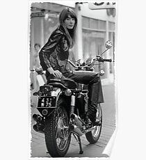 Françoise Hardy motorcycle Poster