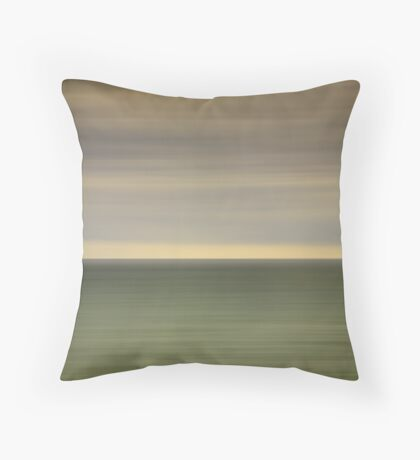 Angry sky and dark and moody waters.... Throw Pillow
