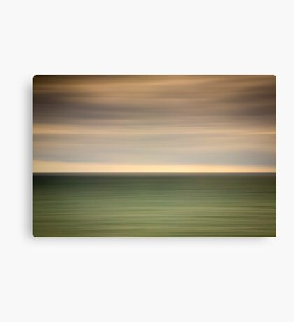 Angry sky and dark and moody waters.... Canvas Print