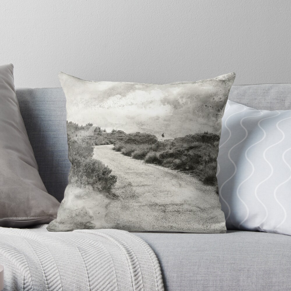 Even if you're on the right track, you'll get run over if you just sit there.... Throw Pillow