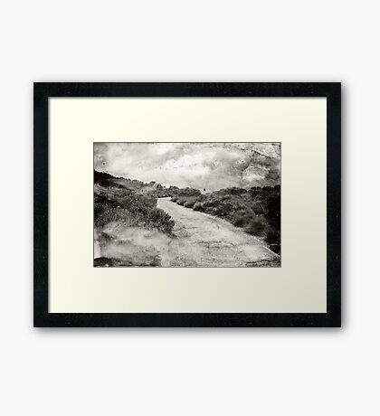 Even if you're on the right track, you'll get run over if you just sit there.... Framed Print