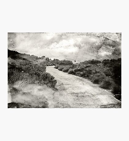 Even if you're on the right track, you'll get run over if you just sit there.... Photographic Print