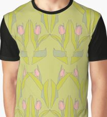 Tulips Green Graphic T-Shirt