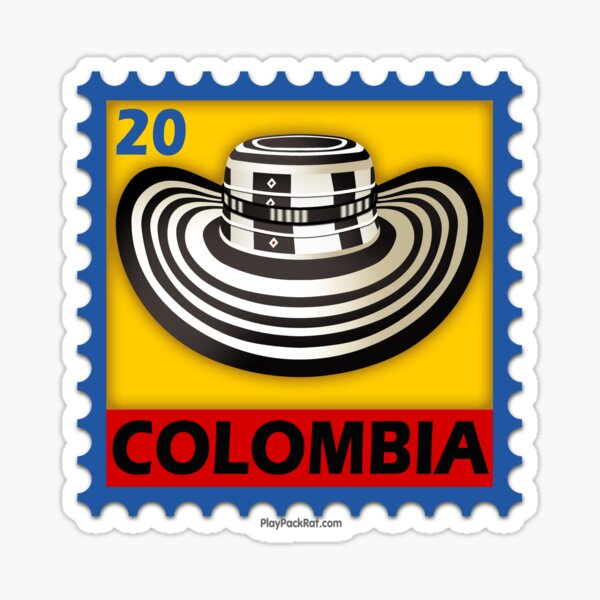 Colombia Stamp Sticker