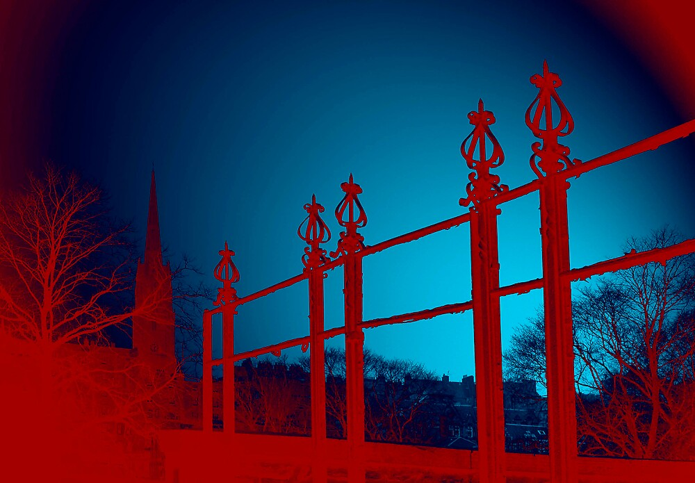 red fence by duncananderson