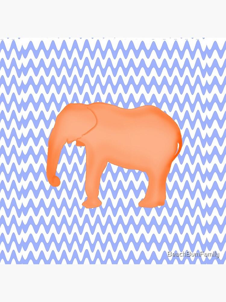 Baby Elephant Blue Burnt Orange by BeachBumFamily