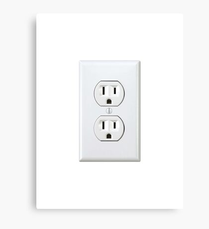 There's never an outlet where you need one. Canvas Print