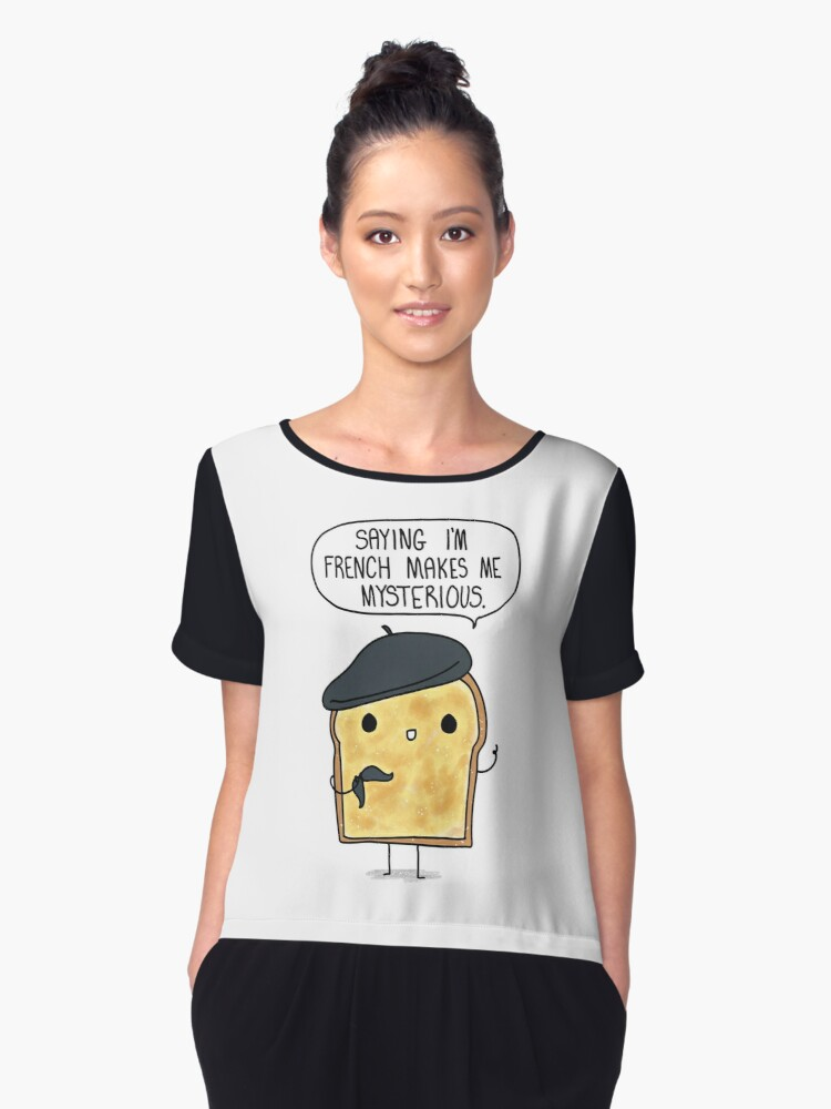 French Toast Women's Chiffon Top Front