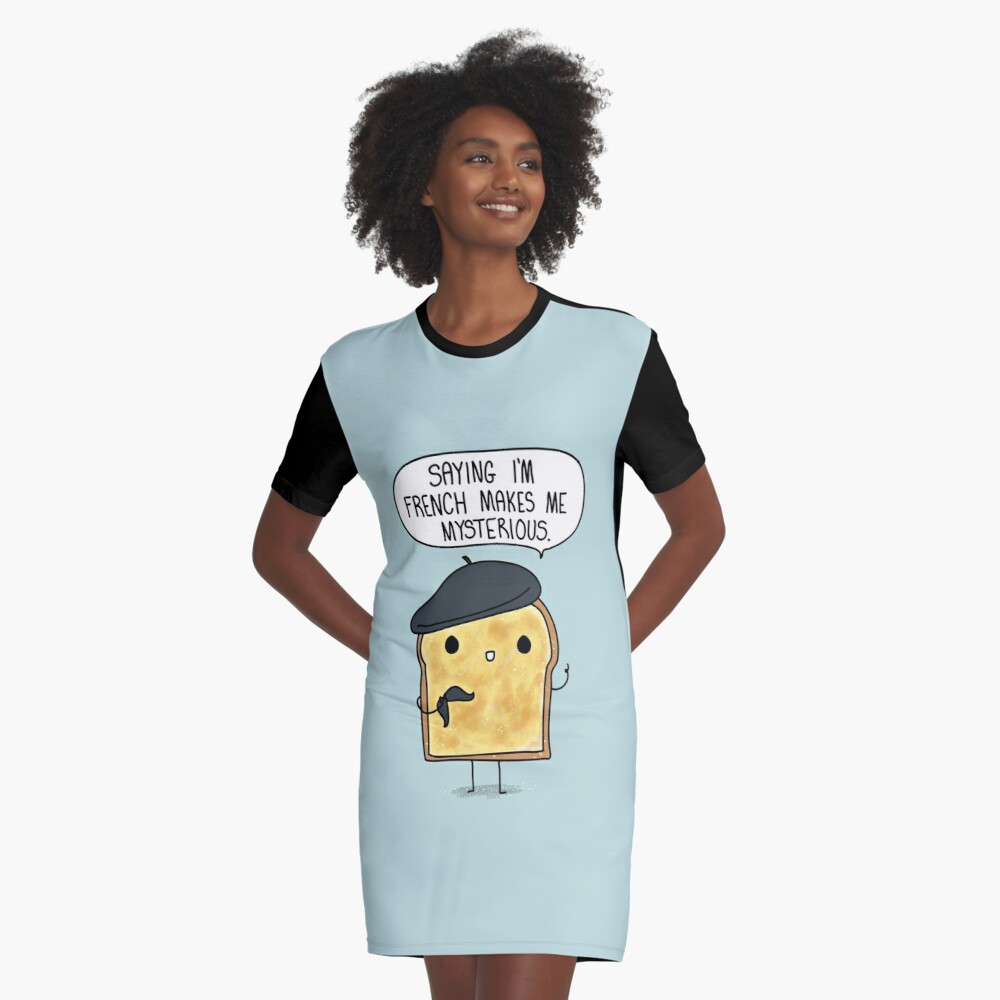 French Toast Graphic T-Shirt Dress Front